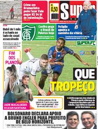 Capa do jornal Super Notícia 20/10/2020