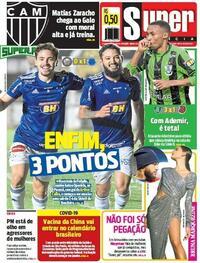 Capa do jornal Super Notícia 21/10/2020