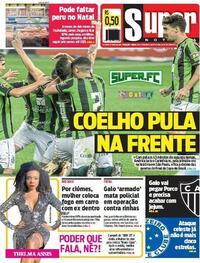 Capa do jornal Super Notícia 29/10/2020