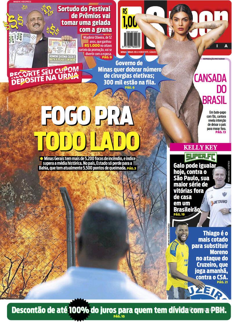 Capa do jornal Super Notícia 25/09/2021