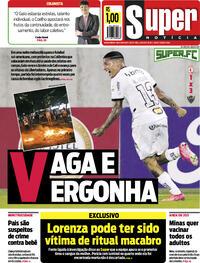 Capa do jornal Super Notícia 14/05/2021