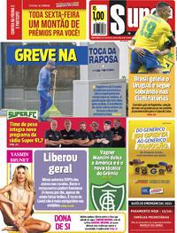 Capa do jornal Super Notícia 15/10/2021