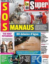 Capa do jornal Super Notícia 16/01/2021