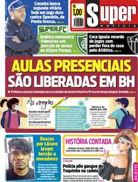 Capa do jornal Super Notícia 19/06/2021