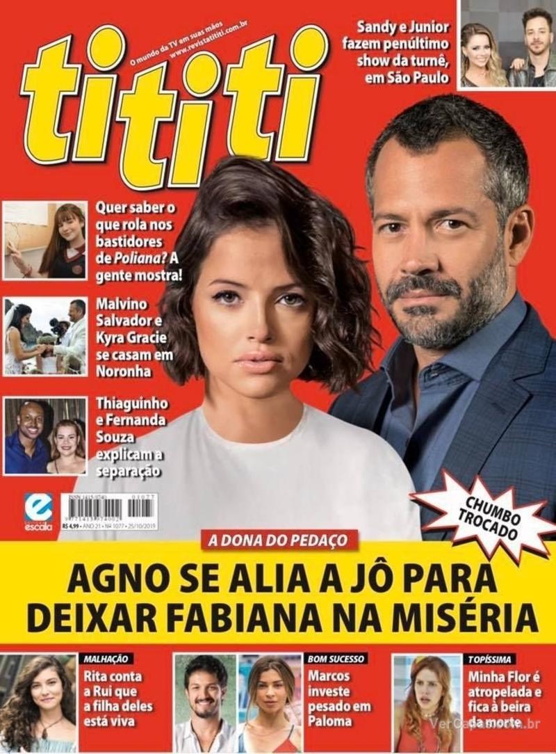 Capa revista Tititi 16/10/2019
