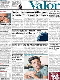 Capa Valor Econômico 2019-01-11