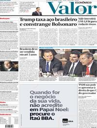 Capa do jornal Valor Econômico 03/12/2019