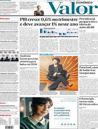 Capa do jornal Valor Econômico 04/12/2019