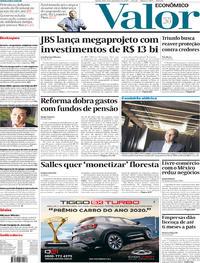 Capa do jornal Valor Econômico 05/12/2019
