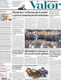 Capa do jornal Valor Econômico 06/11/2019
