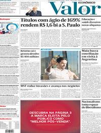 Capa do jornal Valor Econômico 06/12/2019