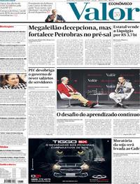 Capa do jornal Valor Econômico 07/11/2019