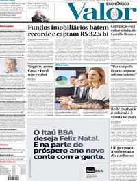 Capa do jornal Valor Econômico 10/12/2019