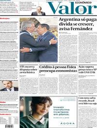Capa do jornal Valor Econômico 11/12/2019