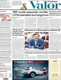 Capa do jornal Valor Econômico 12/12/2019