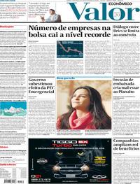Capa do jornal Valor Econômico 14/11/2019