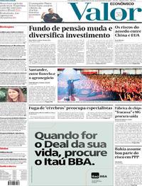 Capa do jornal Valor Econômico 16/12/2019