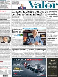 Capa do jornal Valor Econômico 19/12/2019