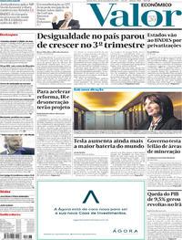 Capa do jornal Valor Econômico 20/11/2019