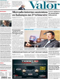 Capa do jornal Valor Econômico 21/11/2019