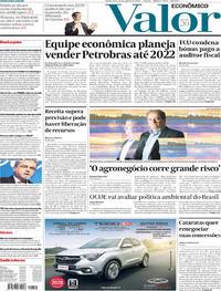 Capa Valor Econômico 2019-08-22