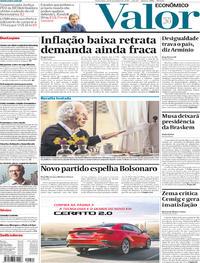 Capa do jornal Valor Econômico 22/11/2019