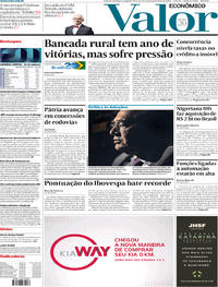 Capa do jornal Valor Econômico 23/12/2019