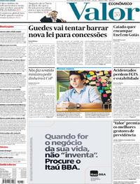 Capa do jornal Valor Econômico 26/11/2019