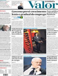 Capa do jornal Valor Econômico 26/12/2019