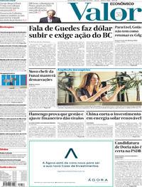 Capa do jornal Valor Econômico 27/11/2019