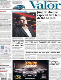 Capa do jornal Valor Econômico 28/11/2019