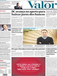 Capa do jornal Valor Econômico 29/11/2019