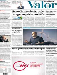 Capa do jornal Valor Econômico 30/12/2019