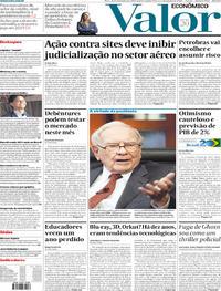 Capa do jornal Valor Econômico 02/01/2020