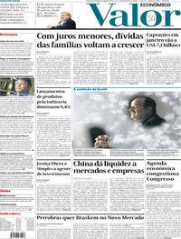 Capa do jornal Valor Econômico 03/02/2020