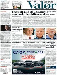 Capa do jornal Valor Econômico 06/10/2020