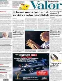 Capa do jornal Valor Econômico 07/02/2020