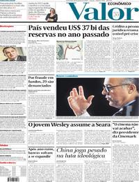Capa do jornal Valor Econômico 10/01/2020