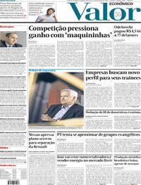 Capa do jornal Valor Econômico 13/01/2020