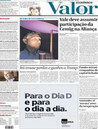 Capa do jornal Valor Econômico 14/01/2020
