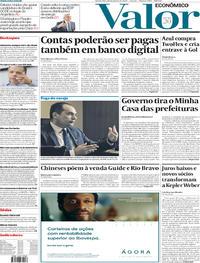 Capa do jornal Valor Econômico 15/01/2020
