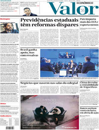 Capa do jornal Valor Econômico 22/01/2020