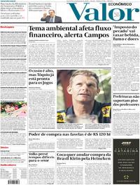 Capa do jornal Valor Econômico 24/01/2020