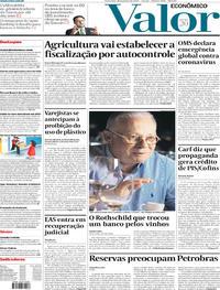 Capa do jornal Valor Econômico 31/01/2020