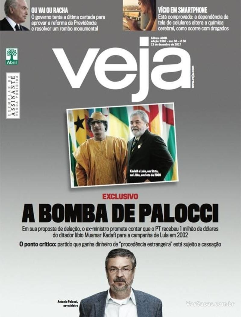 Capa da revista Veja 09/12/2017