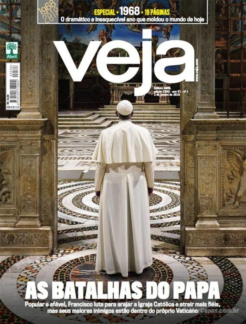 Capa da revista Veja 30/12/2017