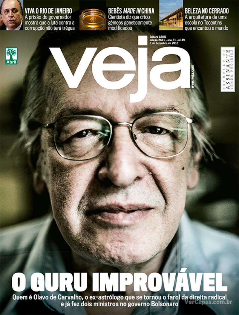 Capa da revista Veja 01/12/2018