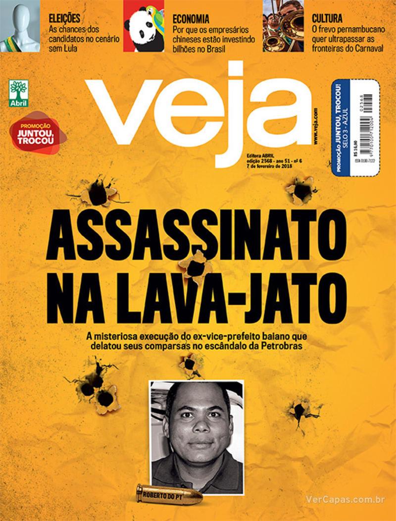 Capa da revista Veja 03/02/2018