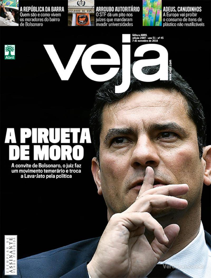 Capa da revista Veja 03/11/2018