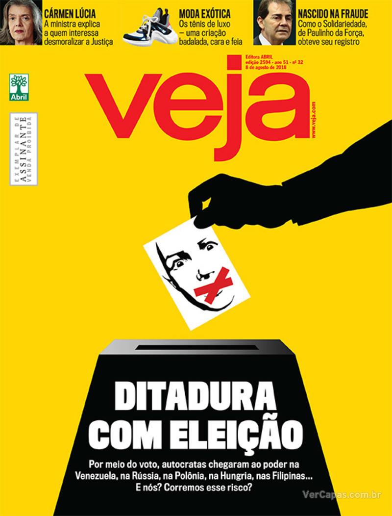 Capa da revista Veja 04/08/2018